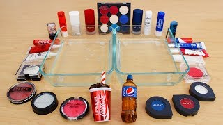 Coke vs Pepsi - Mixing Makeup Eyeshadow Into Slime Special Series 201 Satisfying Slime Video