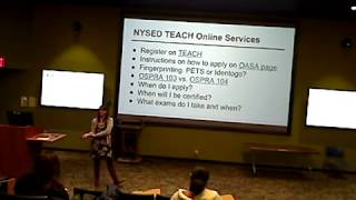 NYS Certification Workshop Season 2: Episode 3 NYSED TEACH