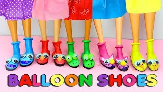 DIY Barbie Balloon Shoes - Very Easy Doll Craft