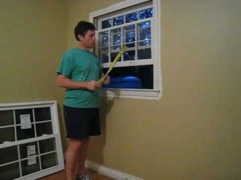 How to install a replacement window pella series 20 from for How to install replacement windows