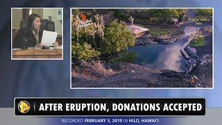Hawaii Eruption Recovery: Donations Accepted (Feb. 21, 2019)