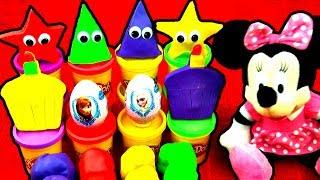 Play Doh Eggs! Minnie Frozen Mario Peppa Pig Cars Princess Disney Cake Hello Kitty LPS MLP FluffyJet