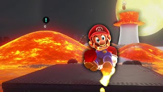 Mario Odyssey but the floor is lava