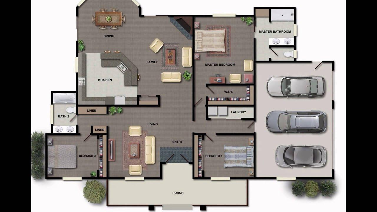 Floor plans for homes september 2015 youtube for 2 bedroom retirement house plans