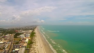 Above Cocoa Beach During Super Boat Race Aerial Video