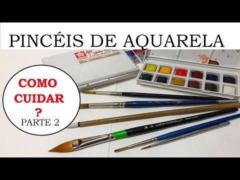 Pincéis para Aquarela, como cuidar? Parte 2 (Watercolor brushes, how to care? Part 2) - VIDEO