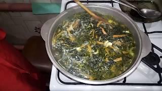 Витаминные зимние зелёные Щи !