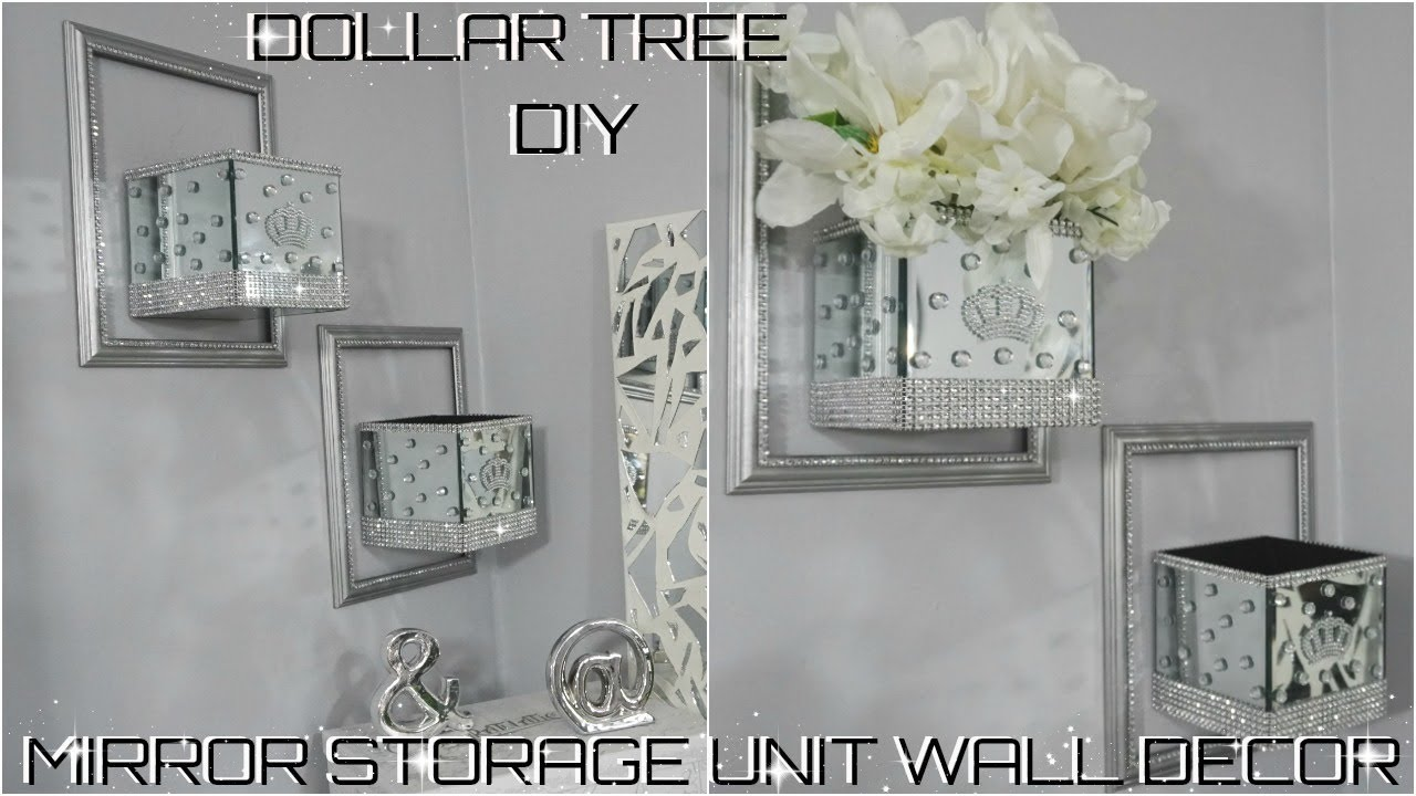 Diy Dollar Tree Bling Mirror Storage Wall Unit Decor