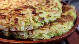 healthy and cheap food, cabbage pie