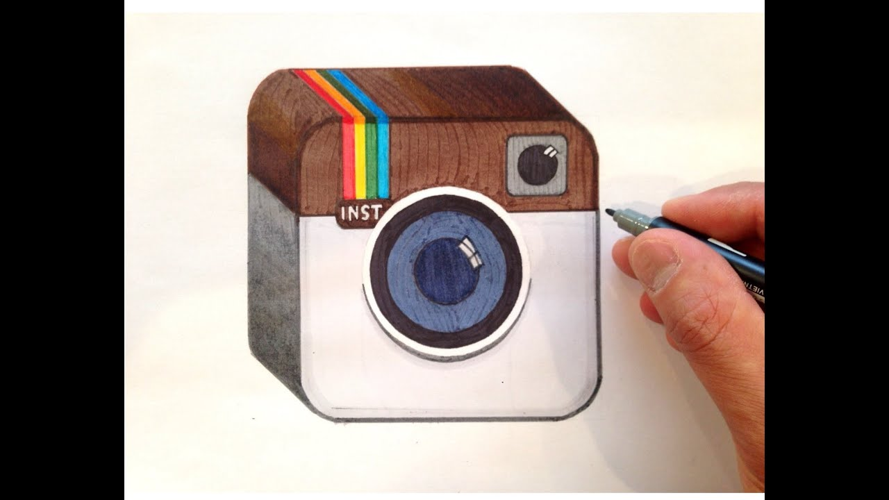 Scribble Drawing Instagram : How to draw the instagram logo in d youtube