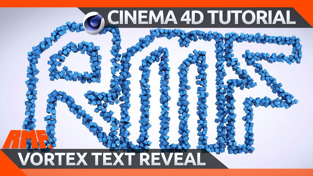 cinema 4d tutorial vortex text reveal youtube. Black Bedroom Furniture Sets. Home Design Ideas