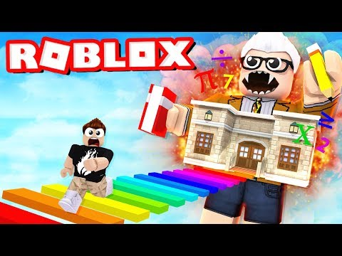 ESCAPE THE SCHOOL OBBY IN ROBLOX! with PrestonPlayz and Jerome