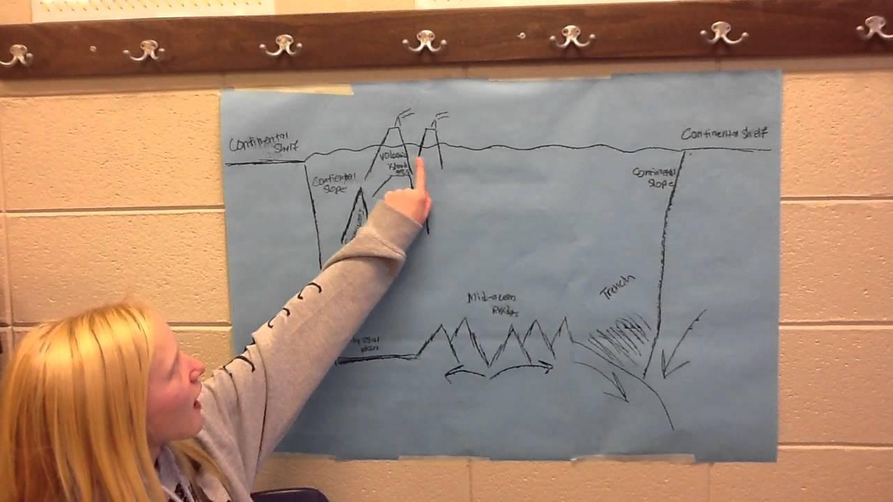 Emmie anna steven brock 39 s science ocean floor diagram for Ocean floor features definition