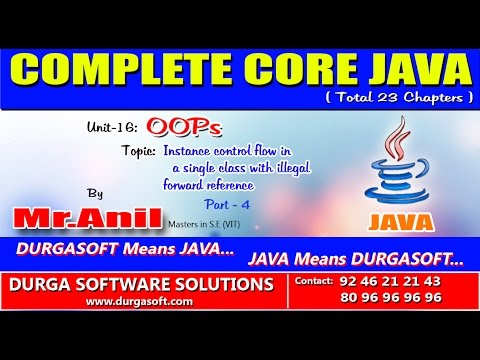 Core Java OOPs   Instance control flow in a single class with illegal forward reference   part 4
