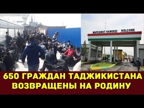 653 граждан Таджикистана вернулись  на Родину