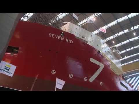 Launch ceremony for Seven Rio at the Royal IHC shipyard in Krimpen aan den IJssel