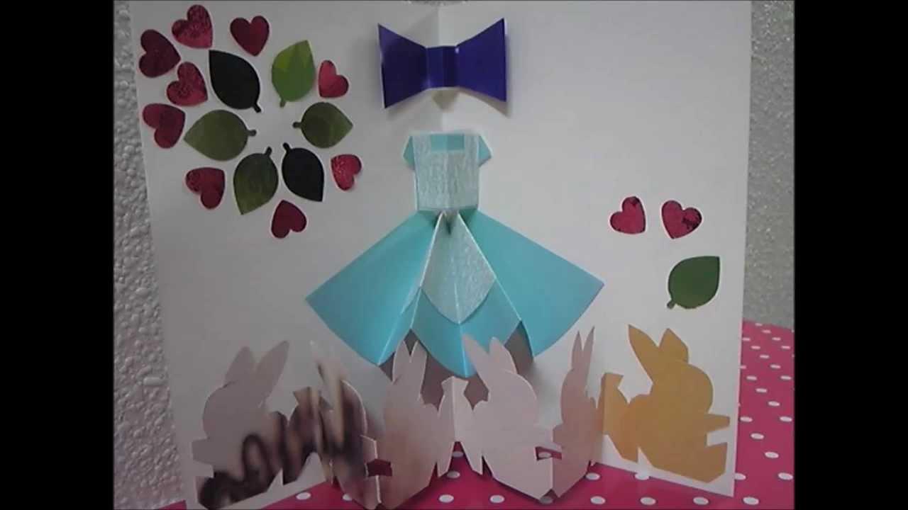 すべての折り紙 ディズニー 折り紙 : かんたんポップアップカード ...