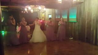 Surprise Bride and Bridesmaid dance - Gary & Kim Pollard 18.02.17