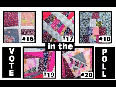 QUILT BLOCK POLL - Vote for Your Favorite from Blocks 16 thru 20
