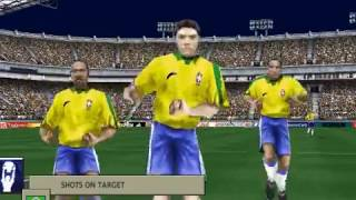 The Epic match:Brazil Vrs Mexico fifa 99 gameplay