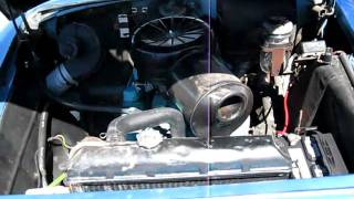 1956 Blue / White Buick Century Engine