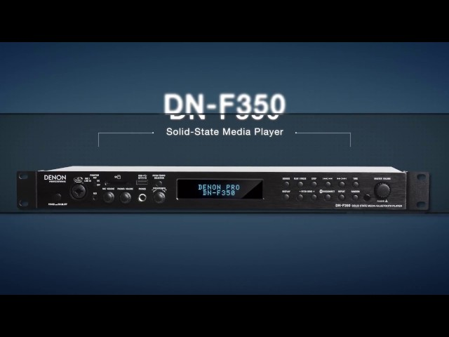 Denon Professional F350 Media Player with Frontal Mic Preamp