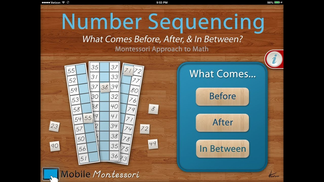 Number Sequencing What Comes Before After Amp In Between