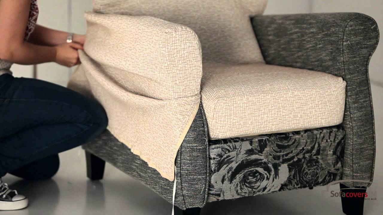 how to install a reclining armchair cover youtube. Black Bedroom Furniture Sets. Home Design Ideas