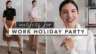 What to Wear to a Company Holiday Party   by Erin Elizabeth