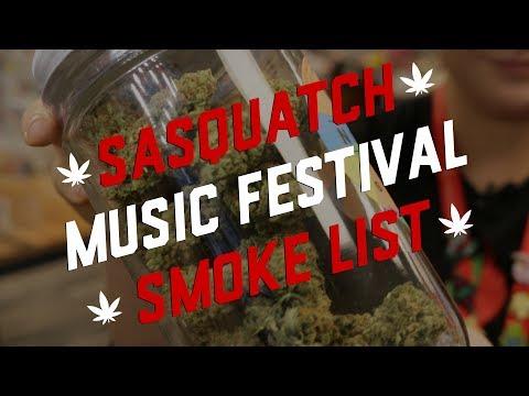 Sasquatch Music Festival Marijuana Smoke List