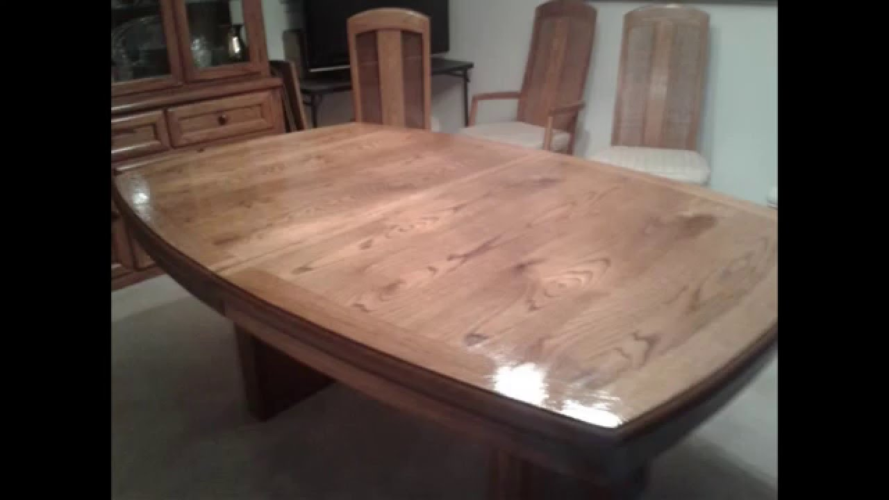 dining room table refinish - YouTube