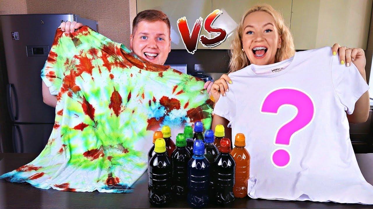 3 Цвета ТАЙ ДАЙ Челлендж ? 3 Colors Tie Dye Challenge ЗАКРУТИ и Покрась НОВЫЙ Челлендж для детей