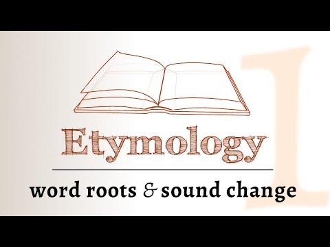 Etymology - sound change, roots & derivation (Etymology 1 of 2)
