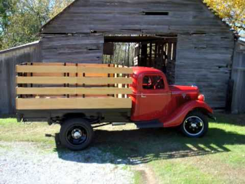 1935 1 1 2 ton stakebed ford truck for sale youtube. Black Bedroom Furniture Sets. Home Design Ideas
