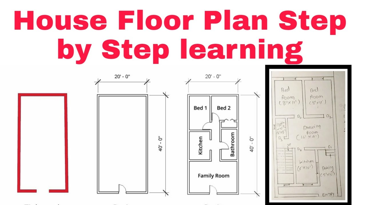How to draw floor plan by hand - YouTube