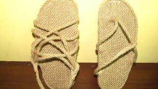 How to easily make sandals.Как легко сделать лапутены [босоножки] самому.