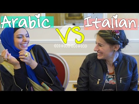 ARABIC VS ITALIAN #LanguageChallenge   اللغة الإيطالية VS اللغة العربية