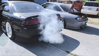 240SX Blowing Hella Smoke! Vape God S14?!