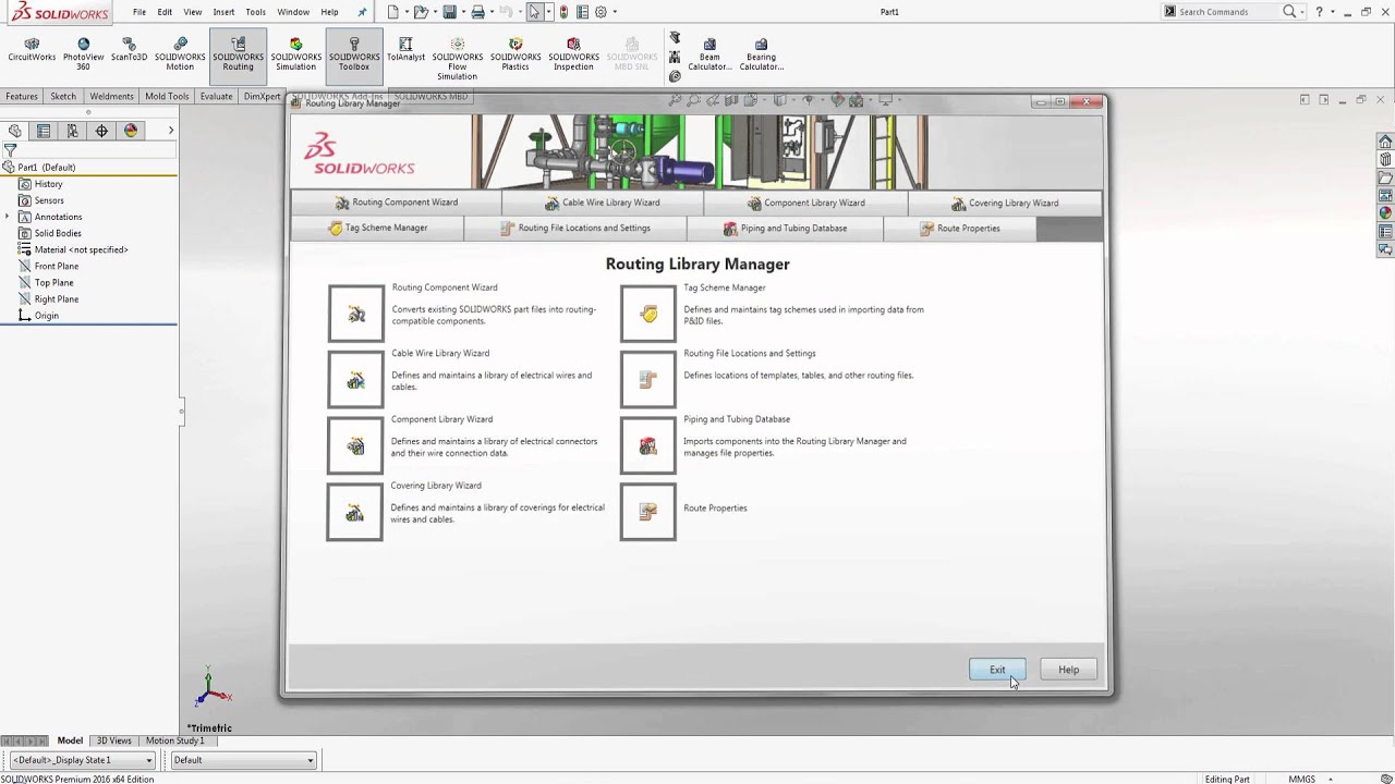 Solidworks Locating The Routing Library Manager Youtube Expertise In Presenting High Quality Electrical Pipes These