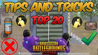 Top 20 Tips & Tricks in PUBG Mobile that Everyone Should Know (From NOOB TO PRO) Guide #1