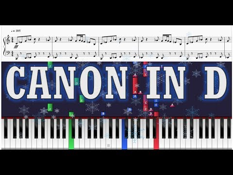 Happy Holidays! (Canon in D - Trans-Siberian Orchestra Version) - Piano Tutorial w/ Sheets