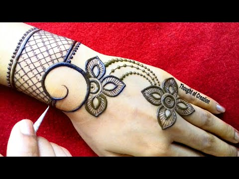 Simple Stylish Jewellery Mehndi Design for Hands |Thought of Creation thumbnail