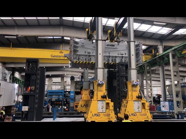 Automotive Presses Precisely Lifted & Positioned with an Enerpac Hydraulic Gantry & Side Shifts