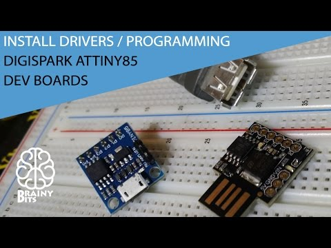 Installing Drivers And Programming The DigiSpark ATtiny85 Dev Boards - Tutorial