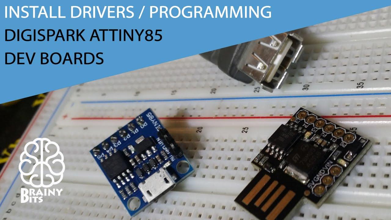 Installing Drivers And Programming The Digispark Attiny85 Dev Boards Atmel Avr Programmer Usb Circuit Atmega8 Isp Programlayici Tutorial Youtube