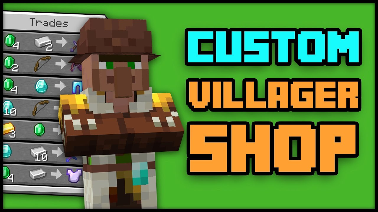 CUSTOM VILLAGER SHOPS and TRADES maker in Minecraft [Datapack]