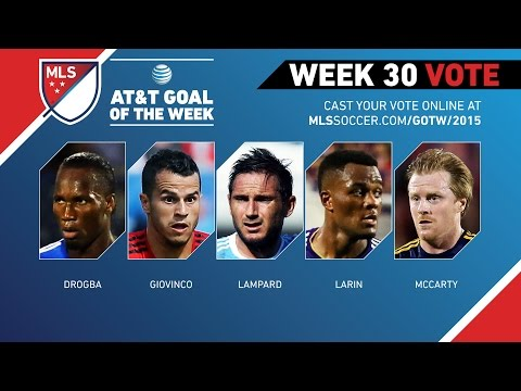 Top 5 MLS Goals | AT&T Goal of the Week (Wk 30)