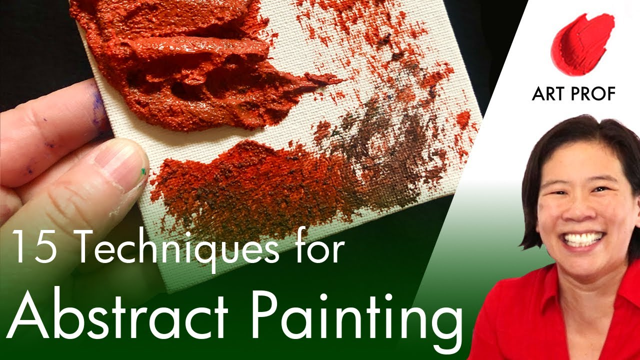 15 Abstract Acrylic Painting Techniques #shorts #youtubeshorts