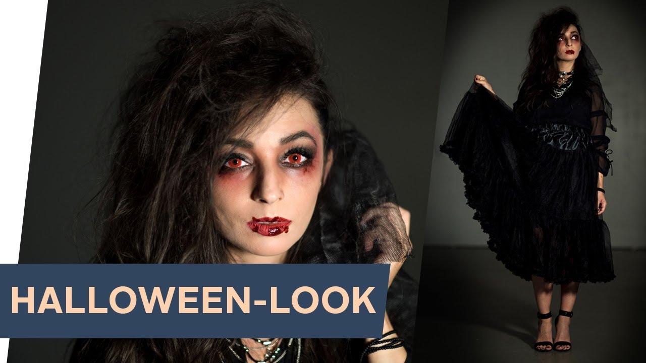 HALLOWEEN-Look: Vamp Haare & Make-up Tutorial~ refashion  OTTO