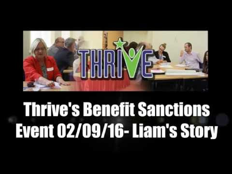 Thrive's Benefit Sanction Event- Liam's Sanction Story